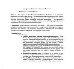 Management Performance Evaluation Sample