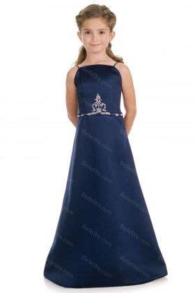 robe de premi 232 re communion en satin longue bretelles bleu