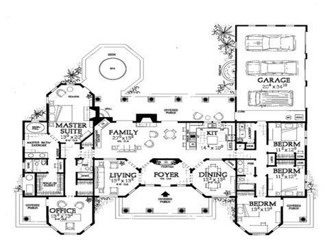 mediterranean home plans with courtyards one mediterranean house floor plans mediterranean