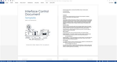 interface control document  ms word template