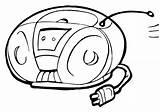 Radio Pages Coloring Radio3 sketch template