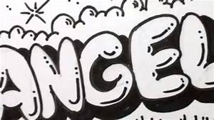 How to Draw Bubble Letters - Angela in Graffiti Letters ...