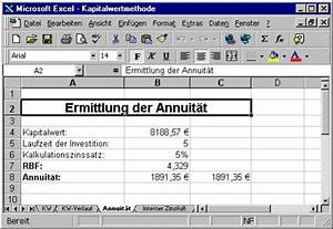 Kapitalwert Berechnen Formel : 11 bwl 2 annuit tenmethode ~ Themetempest.com Abrechnung