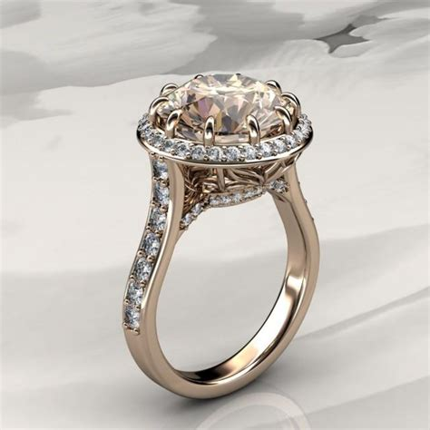 morganite halo engagement ring  diamonds  rose gold