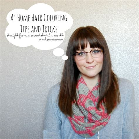 home hair coloring tips  tricks girl loves glam