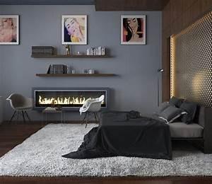 Gestaltungsideen Schlafzimmer Wände : wandfarbe grau im schlafzimmer 25 gestaltungsideen ~ Markanthonyermac.com Haus und Dekorationen