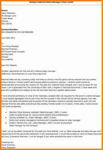 National Sales Manager Resume Cover Letter by 9 Application Letter For Sales Manager Ledger Paper