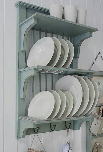 pin  agunghariatmo  rak gtg plate racks  kitchen duck egg blue kitchen blue kitchens