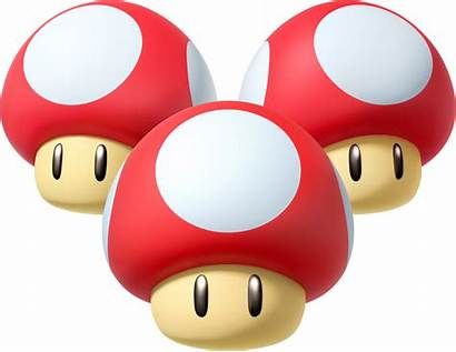 Mario Mushroom Kart Mushrooms Triple Items Wii