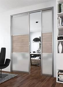 Miroir Adhésif Pour Porte : porte coulissante miroir pour dressing id e ~ Dailycaller-alerts.com Idées de Décoration