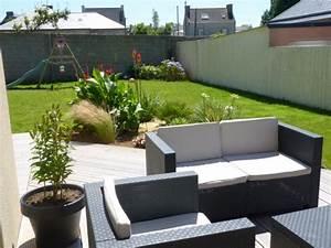 Salon De Jardin Terrasse : deco terrasse et jardin agencement jardin maison email ~ Teatrodelosmanantiales.com Idées de Décoration