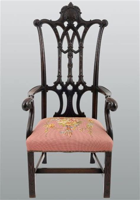 Antique Carved Mahogany Fancy Arm Antique Carved Mahogany Chippendale Arm Chair