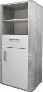 Wandregal Weiß Matt : beistellschrank aarhus in vintage grau wei matt lack online kaufen otto ~ Orissabook.com Haus und Dekorationen