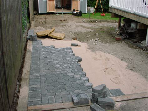 inspiring laying patio blocks 8 laying patio pavers