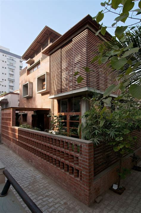Green Home Design by Eco Friendly Green Home With Brick Walls In India