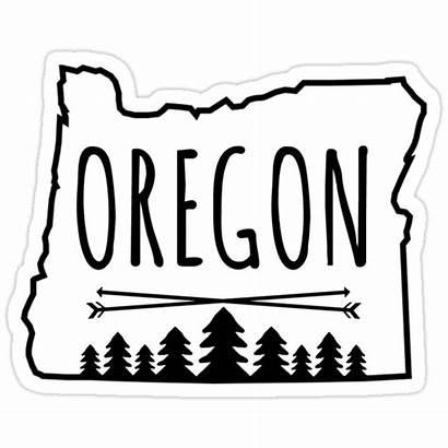 Oregon Trees Sticker Stickers Redbubble Tree U2