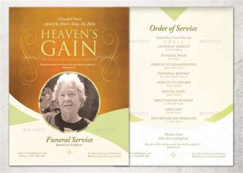 free funeral templates 21 free free funeral program template word excel formats