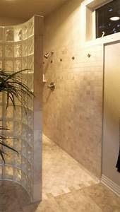 Walk in no door shower bathroom ideas pinterest for Walk in shower no door