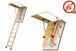 Echelle Escamotable Pour Grenier : echelle escamotable de grenier en aluminium bois ou m tal ~ Melissatoandfro.com Idées de Décoration
