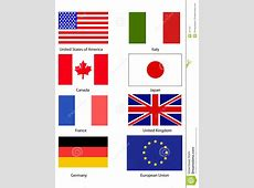 G8 Flags Royalty Free Stock Photography Image 131107