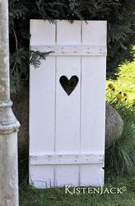 Holz Deko Garten : fensterladen herz holz deko garten rankhilfe wei von kistenjack auf garden ~ Orissabook.com Haus und Dekorationen