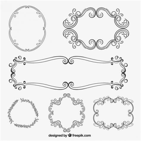 Cornici Da Scaricare Cornici Ornamentali In Stile Disegnato A Mano Scaricare