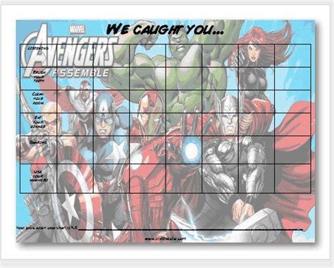 printable avengers behavior chart  craft tacular