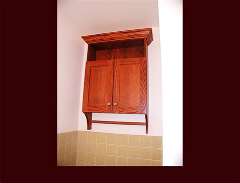 Oak Bathroom Wall Cabinets With Towel Bar by Custom Vanity Cabinets Bath Cabinets Medicine Cabinets Wic