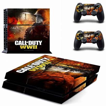 Duty Call Playstation Console Skin Sticker Controller