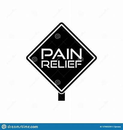 Pain Relief Icon Douleur Teken Soulagement Ou
