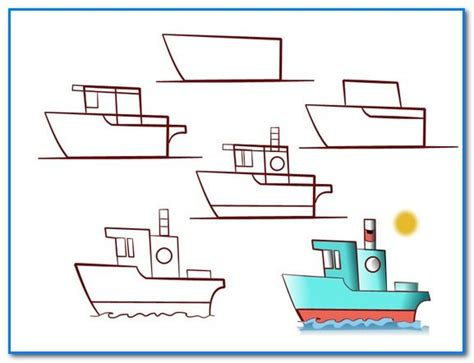 How To Draw A Boat Kindergarten by 223 Best Kindergarten How To Draw Images On Pinterest