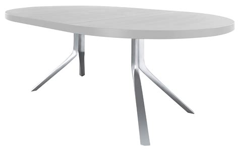 table ronde à rallonge extending table with extensions top and extensions lacquered white by kristalia