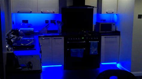 my new colour changing led kitchen lights