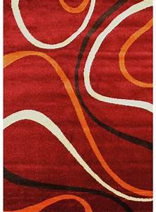 Tapis Rouge Salon : les tapis twist 4 rouge pour le salon ~ Teatrodelosmanantiales.com Idées de Décoration