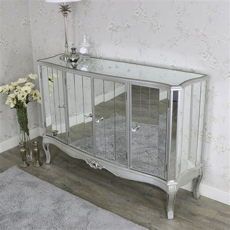 mirrored credenza sideboard large mirrored sideboard range melody maison 174 4159