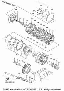 Yamaha Motorcycle 2013 Oem Parts Diagram For Clutch