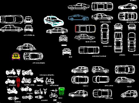 vehicles cars dwg block  autocad designs cad