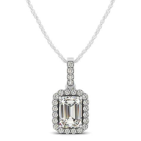 Emerald Cut Halo Pendant Necklace 14k White Gold (125ct. Police Bracelet. Lab Diamond Earrings. Low Profile Wedding Rings. Cord Bracelet. Marquise Rings. Emerald Necklace. Childs Name Bracelet. Black Glass Pendant