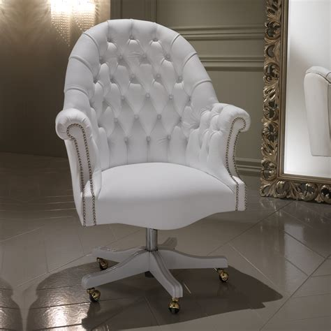 white executive desk chair luxury italian white leather executive office chair