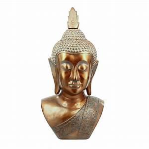 Statue Bouddha Interieur : statue t te de bouddha 113cm cuivre ~ Teatrodelosmanantiales.com Idées de Décoration