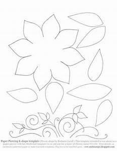 Lotus Flower Petal Template Faux Or Paper Piercing Template Vine Flower Leaves