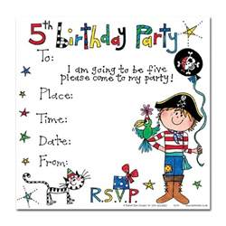 invitation greetings 5th birthday pirate invitation cards pirate party