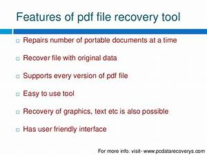 recover your deleted pdf file With pdf document recovery