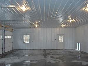 Garage interior walls home design ideas and pictures for Pole barn garage interior ideas