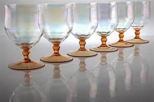 Wassergläser Mit Stiel : 6 art deco jugendstil trinkgl ser gl ser bunt irisierend orange wasserglas wein ebay ~ Buech-reservation.com Haus und Dekorationen