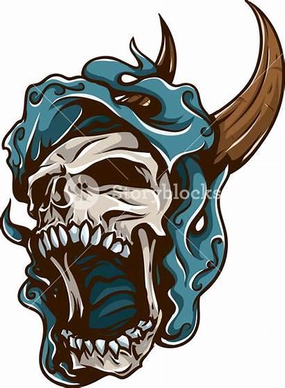 Skull Vector Horns Element Storyblocks
