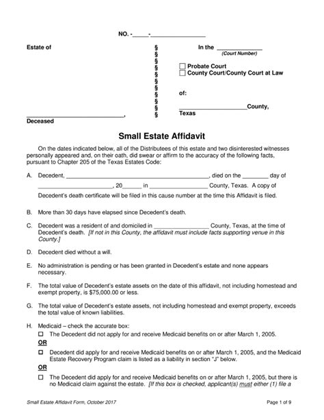 florida affidavit form free small estate affidavit florida free download archives