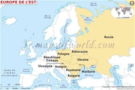 Carte Pays Europe De L Est by Europe De L Est Carte