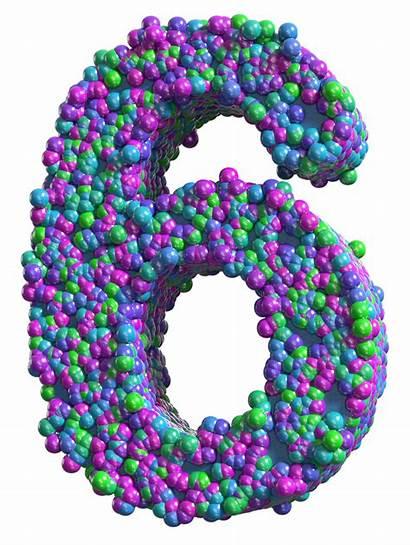 Number Transparent Six Colorful Clip Clipart Decorative