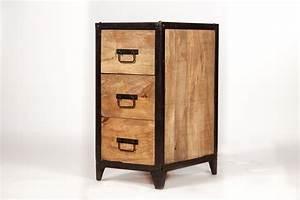 Petit Meuble à Tiroirs : petit meuble bois et metal images ~ Edinachiropracticcenter.com Idées de Décoration
